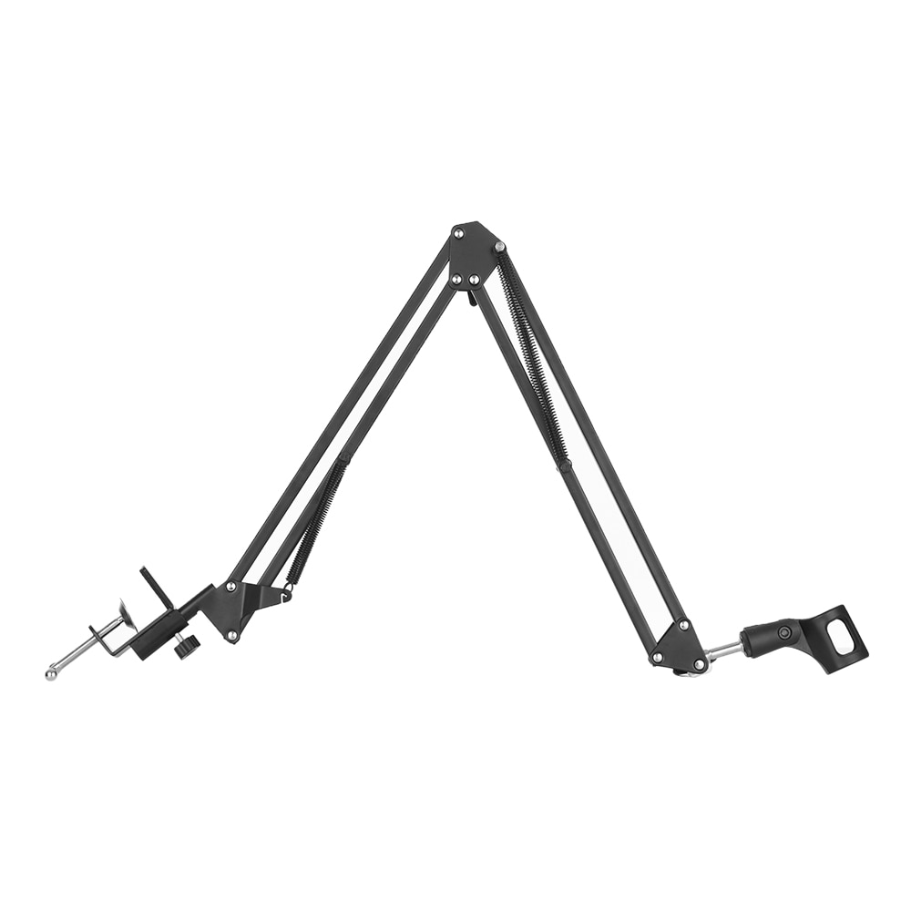 Adjustable Microphone Stand Suspension Boom Scissor Arm Mic Bracket Metal Material With Microphone Holder For Studio Recording