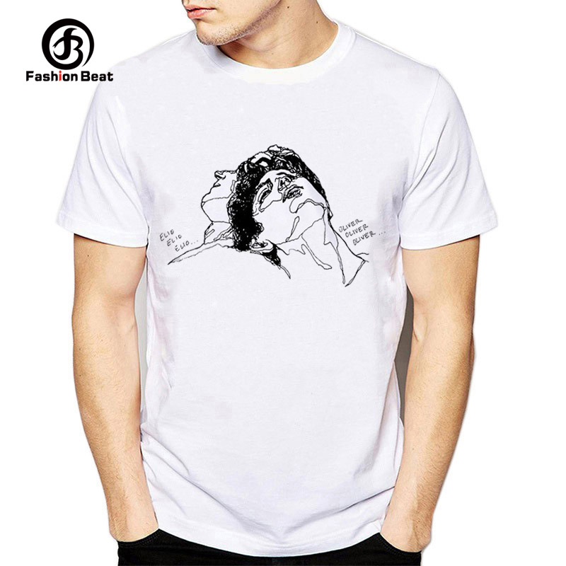 US $8 42 47% OFF|Call Me By Your Name Classic Movie T Shirt Men Printed T  Shirt Timothee Chalamet Short Sleeve Casual Design Tshirt Hipster Tops-in