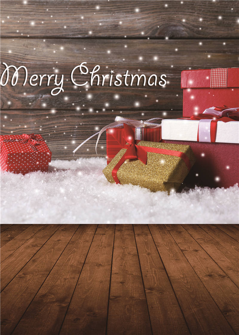 Photography Backdrops Christmas Gifts Wooden Floor Photo Studio Props Baby Background Vinyl 5x7ft or 3x5ft Jiesdx055 shengyongbao 300cm 200cm vinyl custom photography backdrops brick wall theme photo studio props photography background brw 12