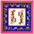 100cm*100cm 100% Twill Silk Euro Brand Horse and Carriage Women Square Scarf Spring Femal Scarves Shawl 3111