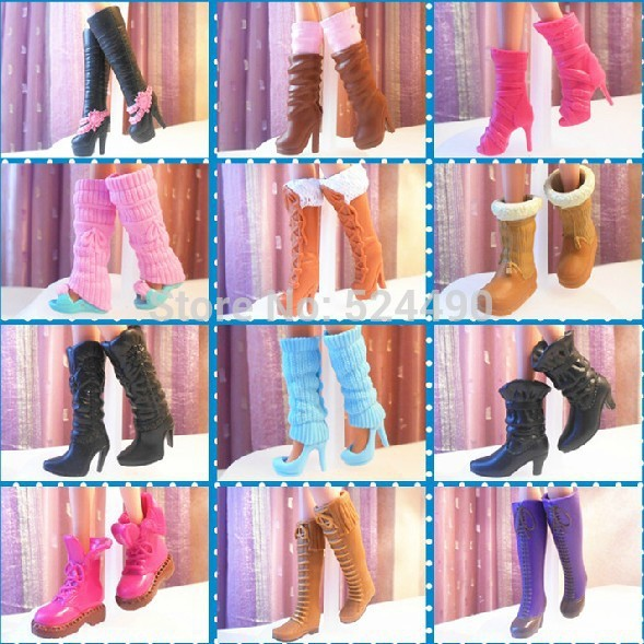 2015 Fashion Mixed Style Beautiful High Heel Boots Sandals Shoes Dolls Accessory Wholesale In