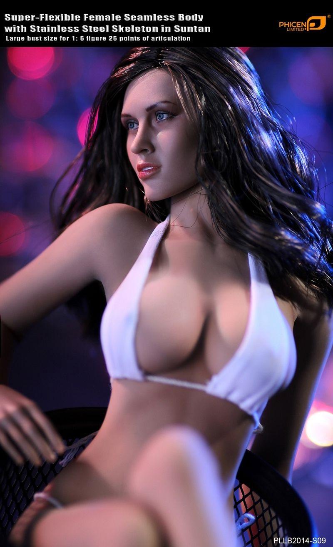 1 6 PLLB2014 S09 Super Flexible Female Seamless Body Head Tan Color 12 Action Figure font