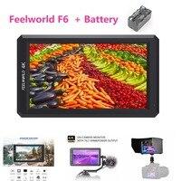 Feelworld F6 Профессиональный Класс 5,7 ips 4 К HDMI Камера топ HD монитор для DSLR или беззеркальных Камера с Батарея