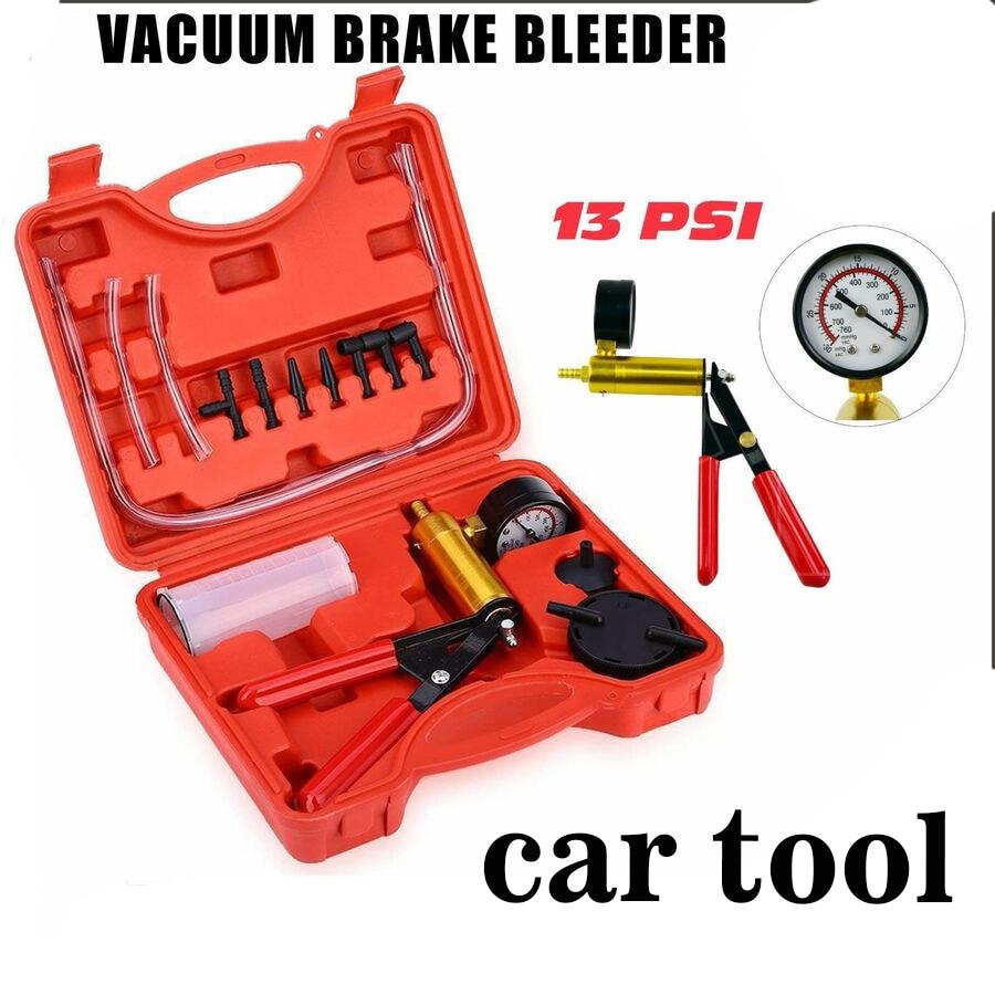 2 In 1 Hand Held Car Vacuum Pump Tester Set Brake Bleeder Bleeding Tool Car Diagnostic tool With Vacuum Gauge Car Tool