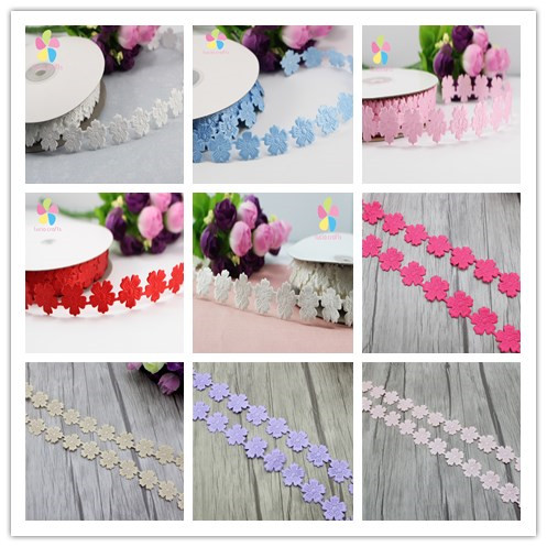 Approx 20mm 5color optional lace trim embellishment ribbon for Craft ribbons and trims