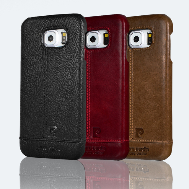 Pierre cardin marca new genuine leather case para samsung galaxy s7 s7 edge/s6 s6 edge plus
