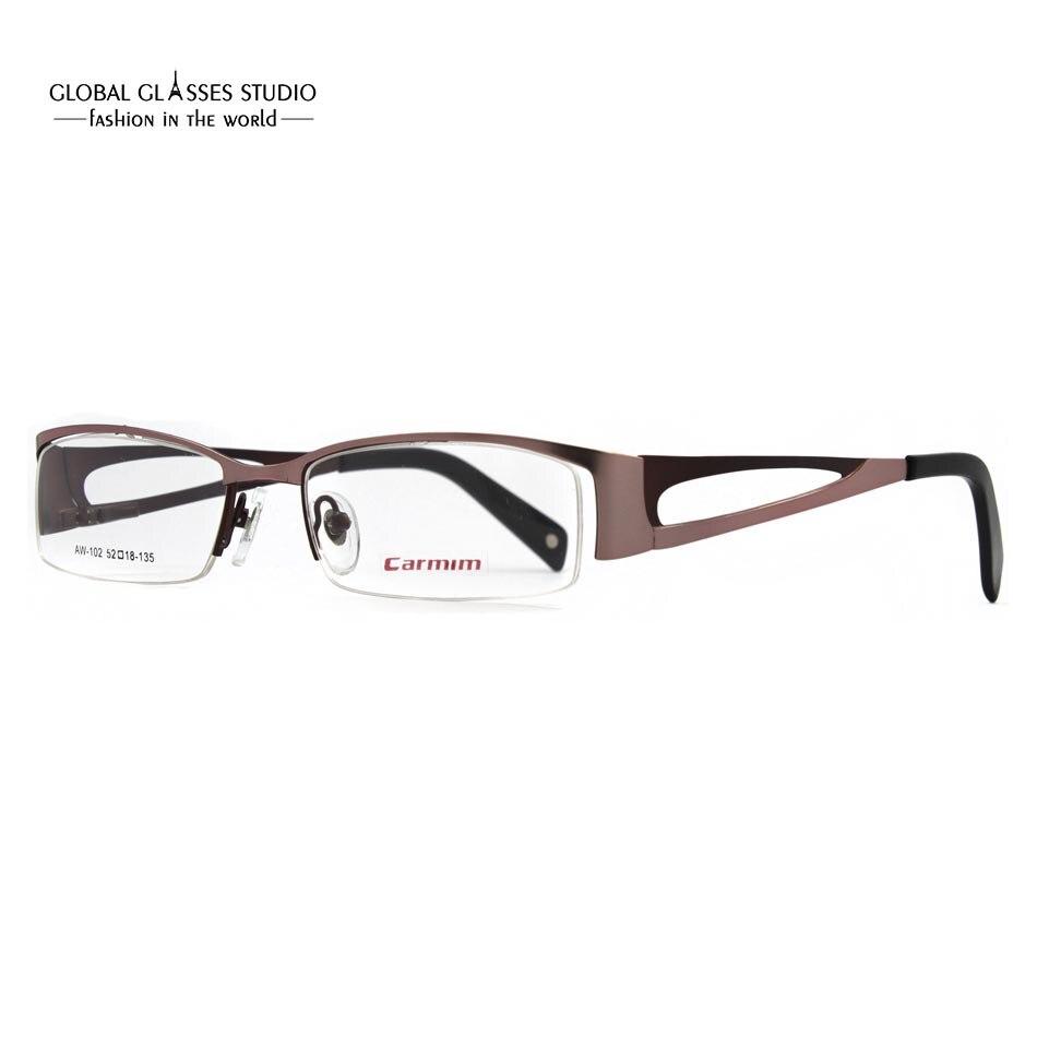 new design wholesale modern stainless steel name brand carmim menwomen eyewear glasses optical eyeglasses frame aw102 - Name Brand Eyeglass Frames