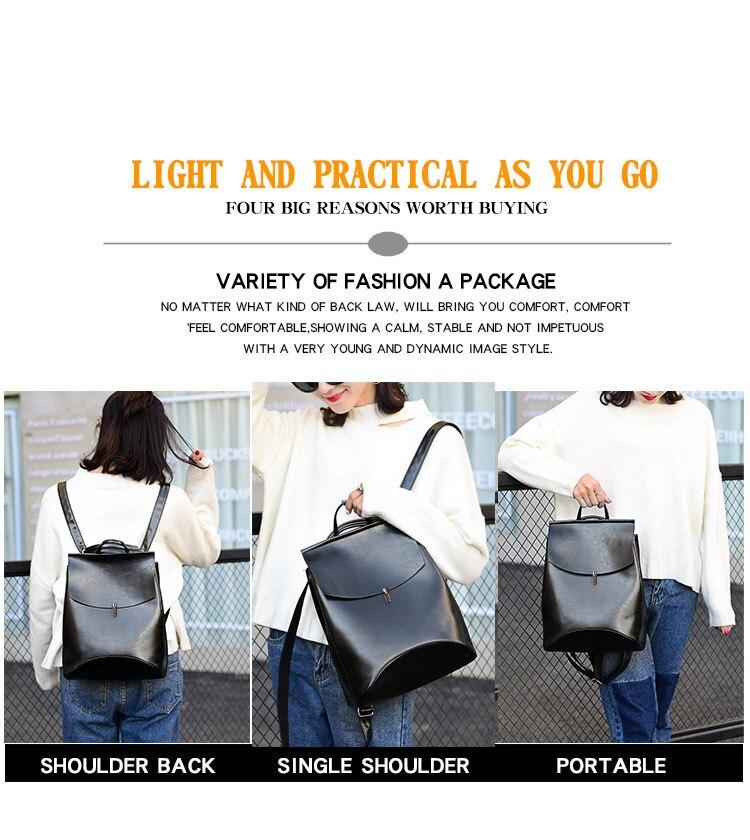 HTB1U5AoQYrpK1RjSZTEq6AWAVXam HOT Fashion Women Backpack High Quality Youth Leather Backpacks for Teenage Girls Female School Shoulder Bag Bagpack mochila