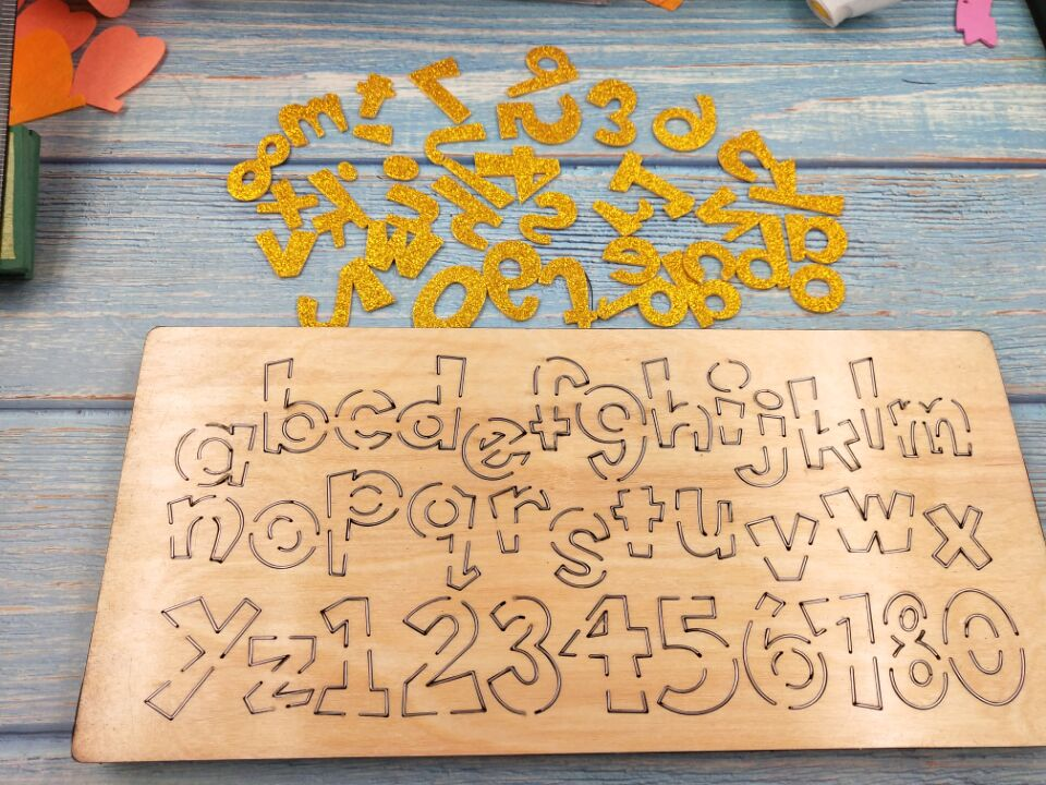 letter new wooden mould cutting dies for scrapbooking Thickness 15 8mm