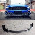 Карбоновое волокно передний бампер спойлер для Ford Mustang Автомобильный Разветвитель Боди Комплект 2018