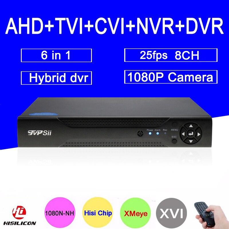 1080P/960P/720P CCTV Camera Xmeye Hi3521A 1080N 25Fps 8 Channel 8CH Hybrid 6 in 1 WIFI Onvif NVR TVI CVI AHD DVR Free Shipping red panel 1080p surveillance camera 1080n h3521a xmeye 25fps 8ch 8 channel 5 in 1 hybrid wifi nvr cvi tvi ahd dvr freeshipping