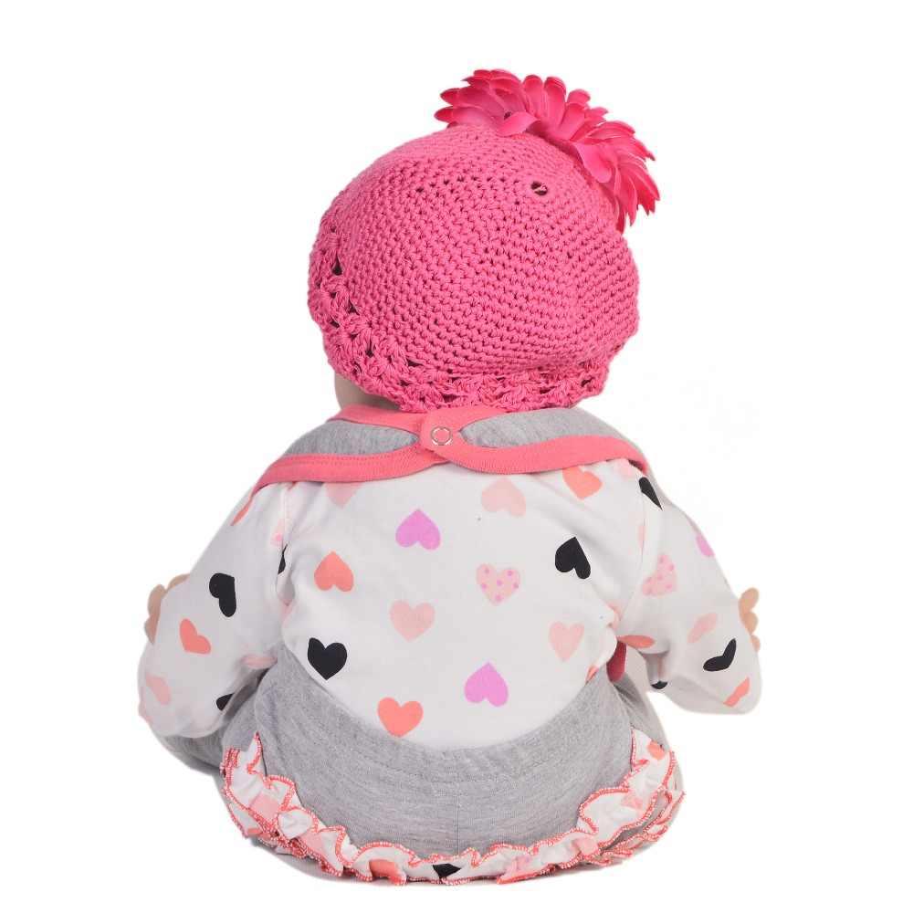 Realista 55 cm boneca recém nascido de silicone macio brinquedo recém nascido para a menina 22 22 lifelifelike reborn bebê boneca pano corpo crianças presentes natal