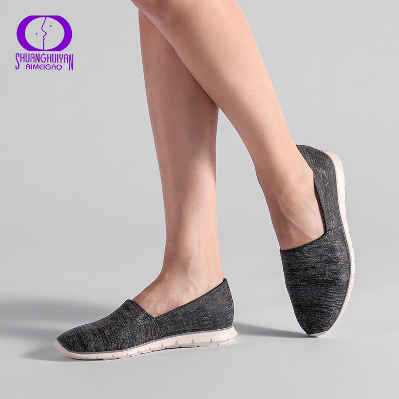 AIMEIGAO Spring Autumn Slip on Loafers Flats Shoes Women Comfortable light Women Shoes Round Toe Female Casual Shoes 36-41 spring summer flock women flats shoes female round toe casual shoes lady slip on loafers shoes plus size 40 41 42 43 gh8