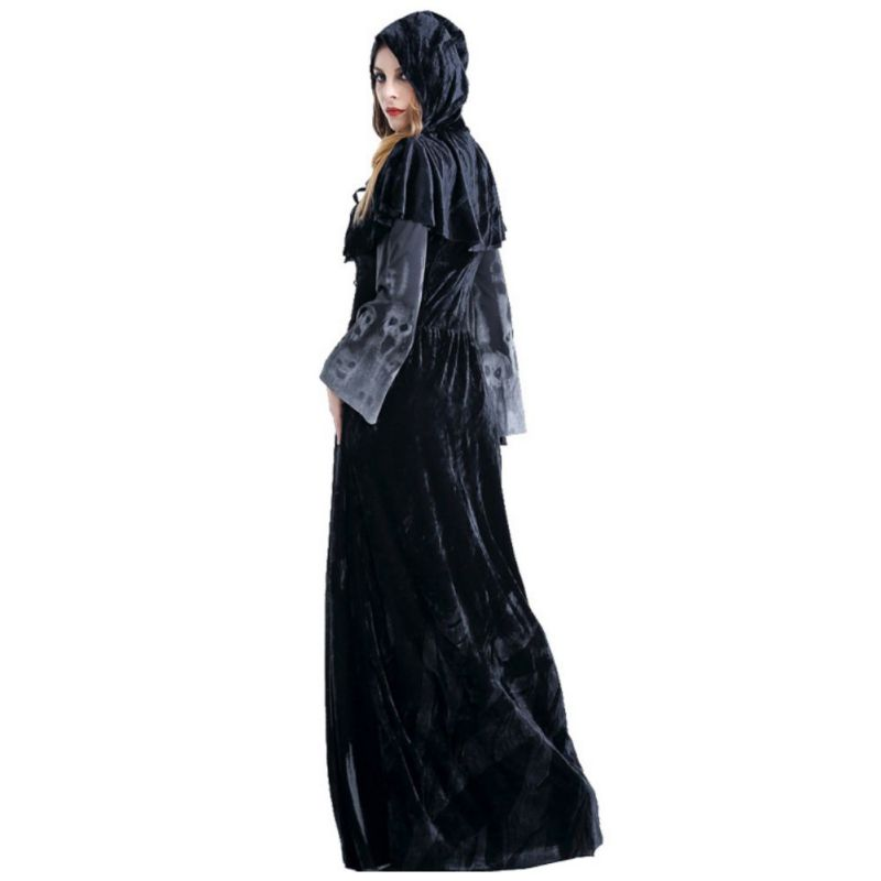, Plus Size Women Sexy Long Dress, Skulls Only - clothing and apparel
