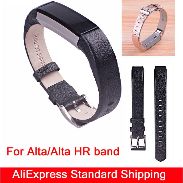 ec0658e59f0 New High Quality Replacement Wrist Band For Fitbit Alta  alta hr Band  bracelet fitness tracker banda bandje Genuine Leather