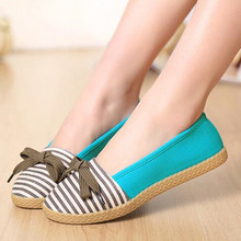 40% OFF Printemps femmes bande tissu toile paresseux occasionnels chaussures Coréen chaussures plates appartements femmes chaussures haute quanlity