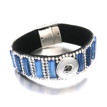 Кристалл Магнит 076 Стразы кожаный браслет подходит 18 мм кнопки