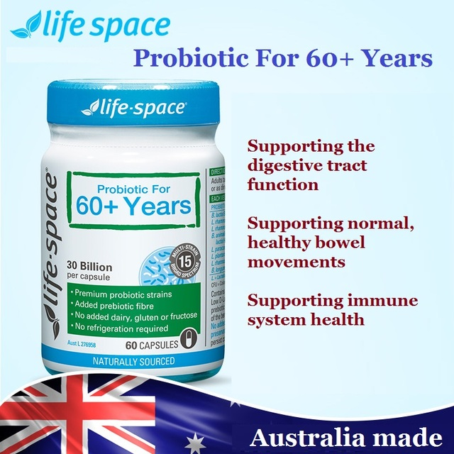 Austrália Bestselling Probióticos Cápsulas Para 60 + Anos de Amplo Espectro, apoio normal, movimentos intestinais saudáveis do sistema imunológico