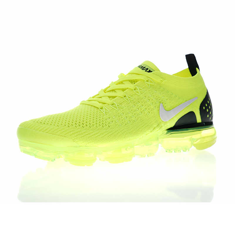 factory price 62aac a1a5b Original Nike Air VaporMax Flyknit 2.0 W Men's and Women's Running Shoes,  Green, Shock Absorption Breathable Non-slip 942842 701