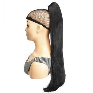 Image 4 - StrongBeauty Klaue Clip Pferdeschwanz Lange gerade Haarteil Synthetische Haar Verlängerung