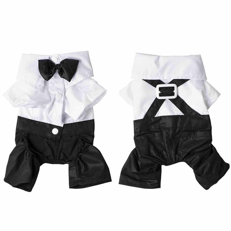 ... Dog Formal Dress Western Gentleman Style Men s Suit With Bow Tie Pet  Dog Clothes Puppy Apparel ... fdd735f3d85e