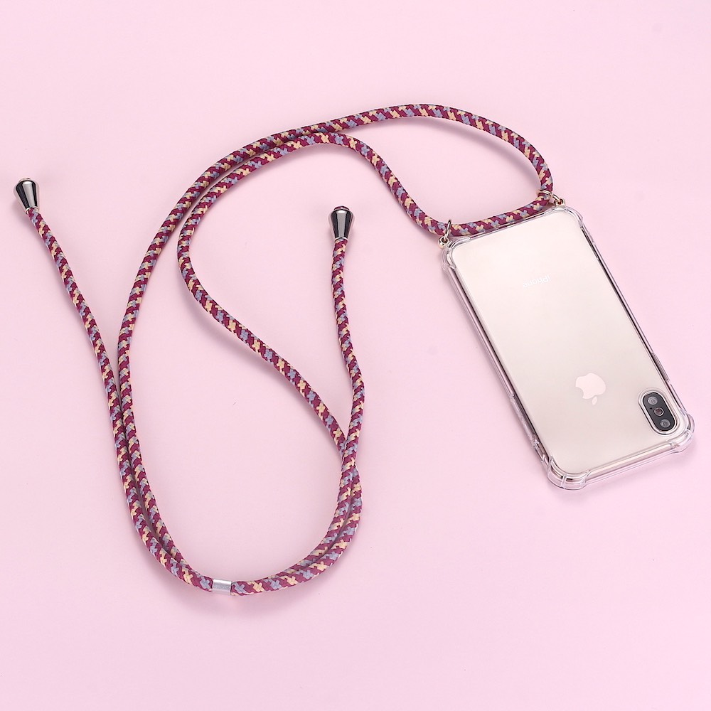 Strap Cord Chain Phone Simple Necklace Lanyard Mobile Phone Case For Carry Cover  Case To Hang For IPhone XS Max XR X 7Plus