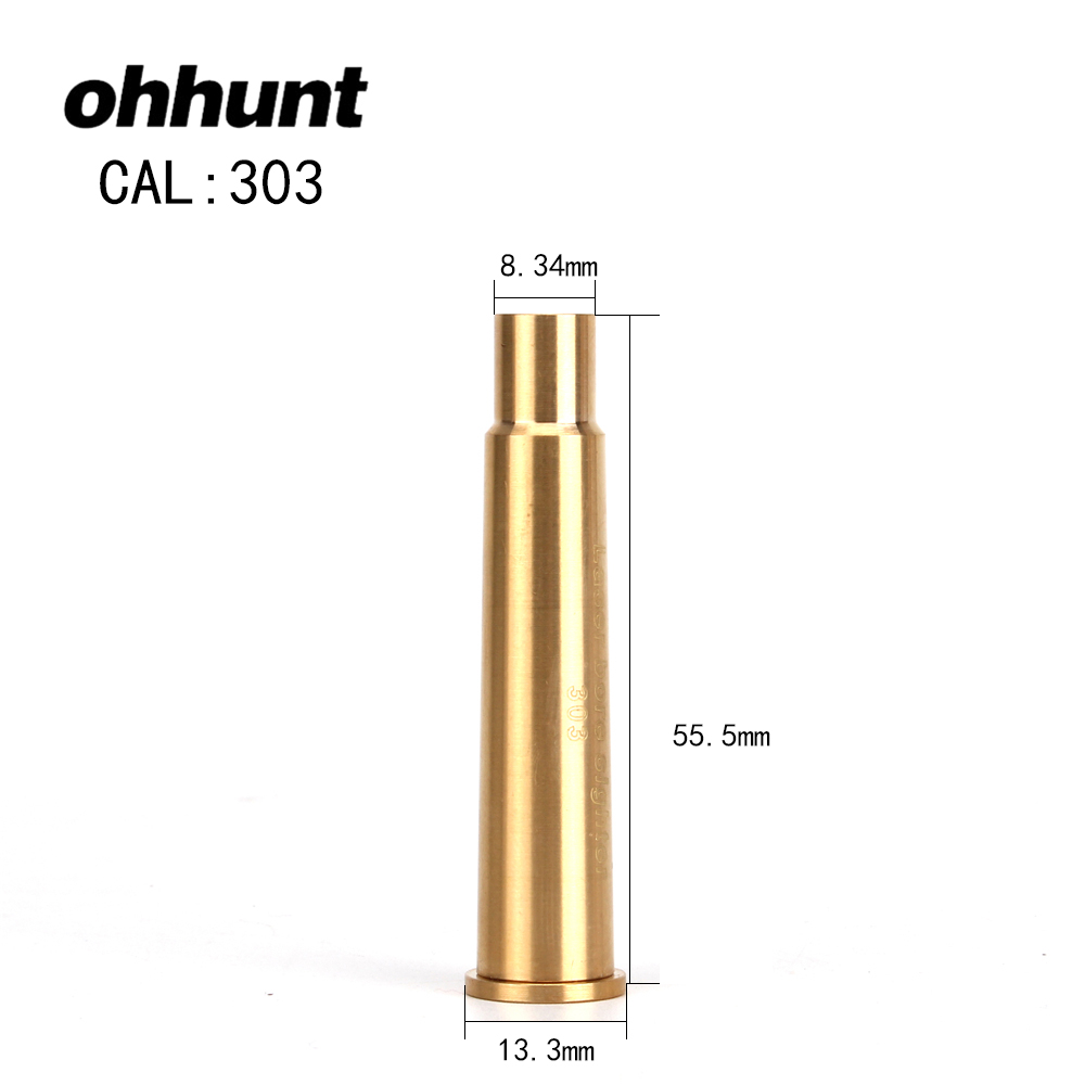 ohhunt CAL 303 Cartridge Red Laser Boresighter Hunting Laser Bore Sighting Colimador for Tactical Riflescope Scope