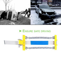 1pc 3Pcs Car Universal Mini Anti Skid Chain Manganese Steel Winter Tyres Wheels Snow Chains For