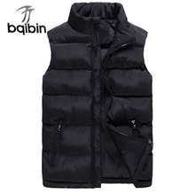 Fashion Vests New Men's Jackets Sleeveless Solid Waistcoat Mens Coats Winter Autumn Brand Male Clothing Plus Size 6XL