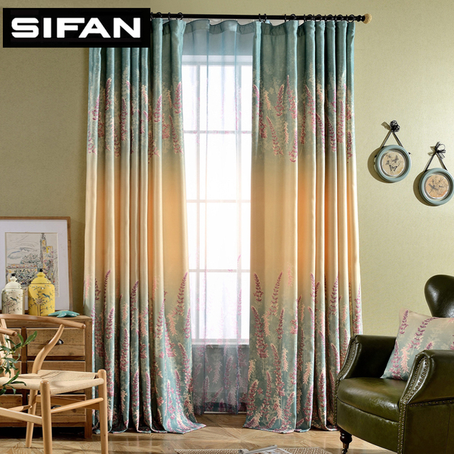 Lavender Fancy Window Curtains For The Bedroom Living Room Decorative Modern Drapes Tulle Ready