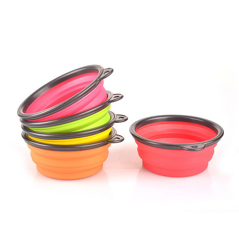 Hot 1Piece Portable Silicone Folding Travel Foderskål Camping - Pet produkter - Foto 4