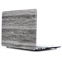 RYGOU Wood Texture Pattern PU Leather Coated Plastic Hard Case for Macbook Air Pro Retina 11 12 13 15 inch Pro 13.3 15.4 Cover