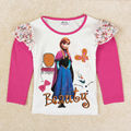 fashion anna elsa Girl t shirt Autumn long sleeve t shirt girl kids Printed fashion cartoon shirt for girl  enfant
