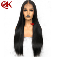 QueenKing Hair PrePlucked Full Lace Wigs with Baby Hair Brazilian Remy Hair Silky Straight Human Hair Wigs for Women