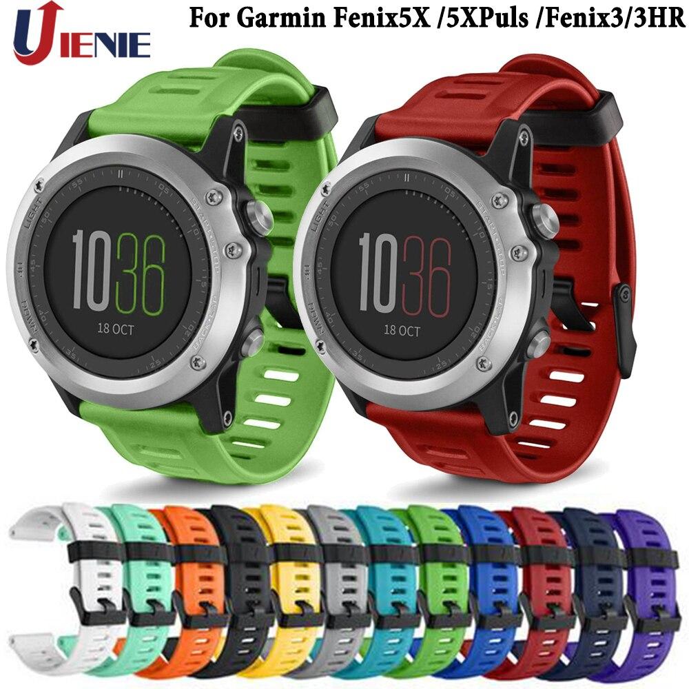 Watchband Straps For Garmin Fenix 5X/6X/5XPlus/Fenix 3/ 3HR Smart Watch Silicone Band 26mm Wristband Bracelet Replacement Strap