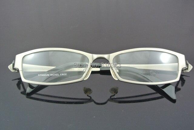 100% Pure Titanium Silver Eyeglass Frame Full Rim Man Women Glasses ...