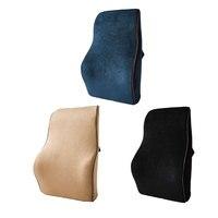 CAR Partment Hot Car Memory Foam Lumbar Back Support Pillow Cushion Home Office Car Auto Seat