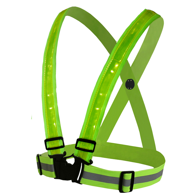 ФОТО High visibility Reflection safety vest waistcoat outdoor running cycling reflective vest 3M fabric strip tap work clothes