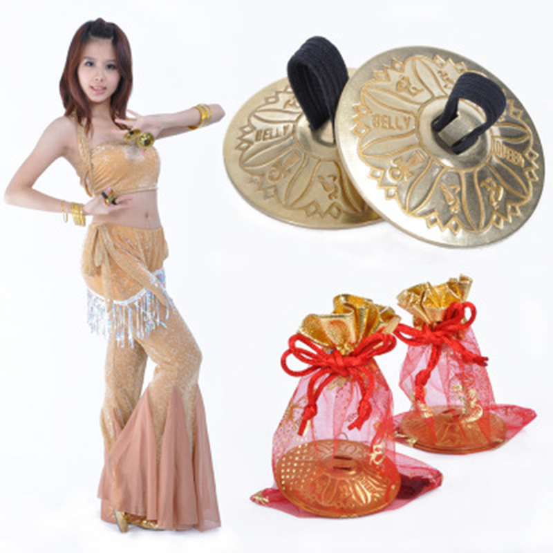 Belly Dance Accessories2 Pair Professional Women Bellydance Accessories Jewellery Copper Finger Cymbals Belly Dance Zills