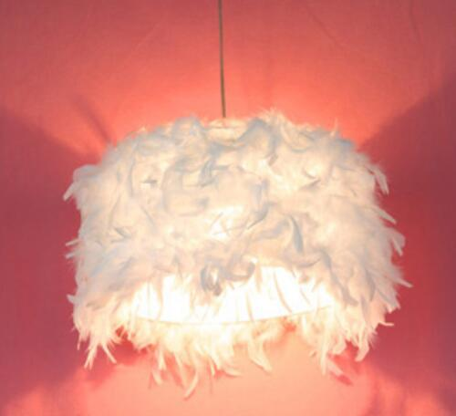 pendant lights White feather light lamp of droplight with contemporary and contracted light ZL340