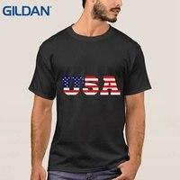 tee shirt USA American Flag ali shirt Cartoon Hop blue mens cloth Streetwear cotton simple Short-Sleeved