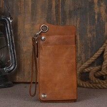 2 цвета, чехол-кошелек ручной работы из натуральной кожи для универсального телефона, винтажный кожаный чехол для iPhone7/6
