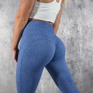 Image 2 - Normov leggings de fitness mulheres de cintura alta workout push up leggins calças femininas casuais mujer retalhos leggings mais tamanho feminino