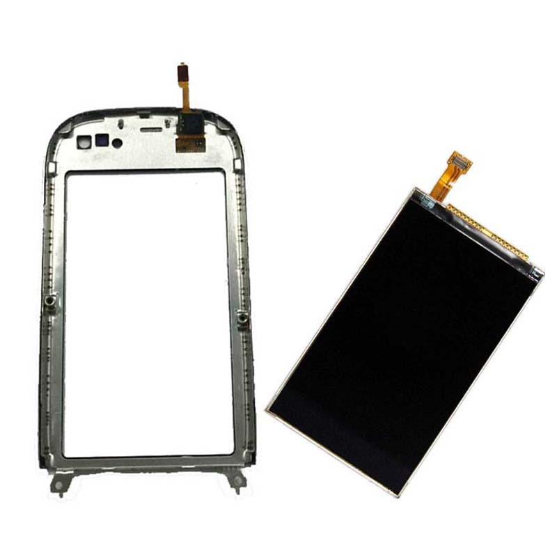 Black For Nokia C7 C7-00 Touch Screen Digitizer Sensor Glass with Frame + LCD Display Screen Panel Monitor Replacement