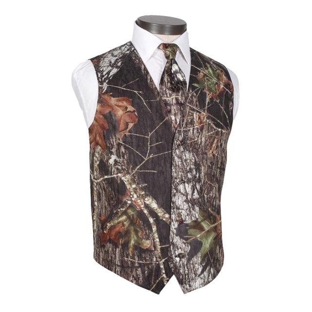 Online Shop 2018 Camo Mens Dress Wedding Vests Realtree Camouflage ...