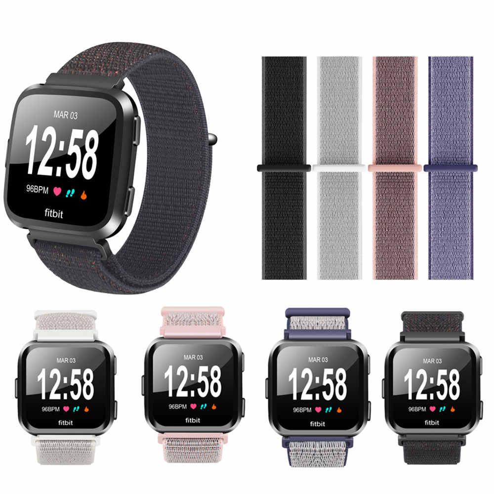 Нейлоновые ленты для Fitbit Versa 23 см воздухопроницаемая мягкая петля ремешок Спортивные наручные браслеты для Versa Смарт часы