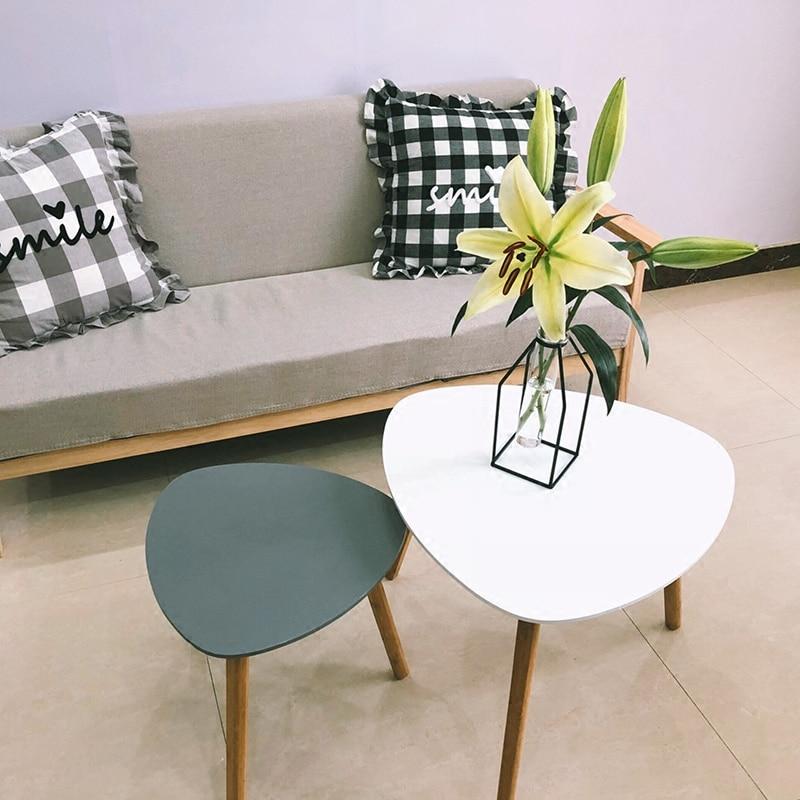Diskret 2 Stücke Dreieck Form Seite Tisch/nordic Einfachheit, Moderne Designer Möbel, Minimalistischen Holz Kaffee Tisch, Tee Tisch Niedriger Preis