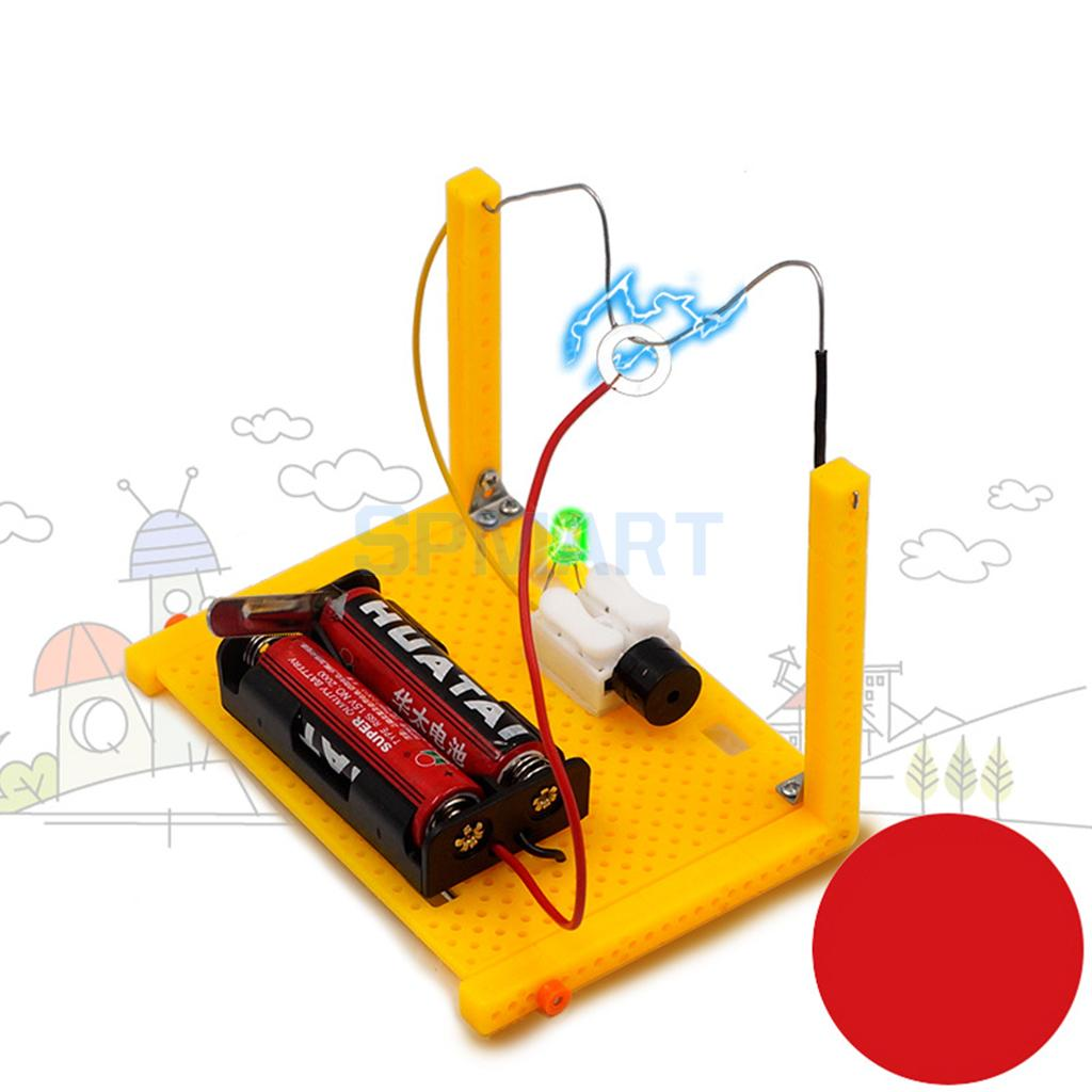 DIY Warning Device Toy Set Educational Electrical Analog Circuit Physics Science Experiment Discovery Kids Gift Teaching Aids