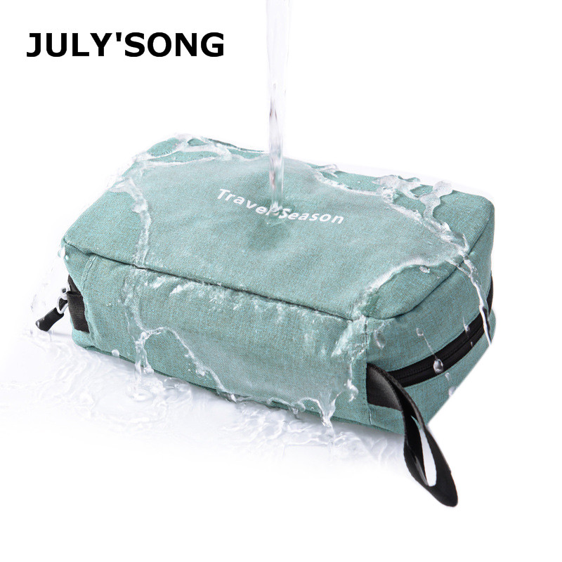 July's Song High Quality Multi Function Toiletries Bag Hooked Wash Bag For Travel Bathroom Hang Cosmetic Storage Bag