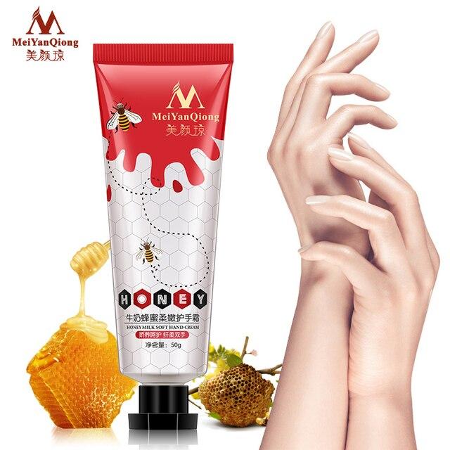 Honey Milk Soft Hand Cream Lotions Serum Repair Nourishing Hand Skin Care Anti Chapping Anti-Aging Moisturizing Whitening Cream 4